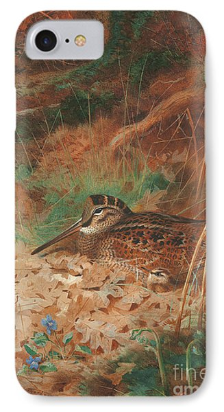 A Woodcock And Chick In Undergrowth IPhone 7 Case