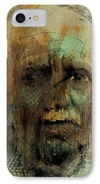 IPhone Case featuring the digital art A Worried Mind by Jim Vance