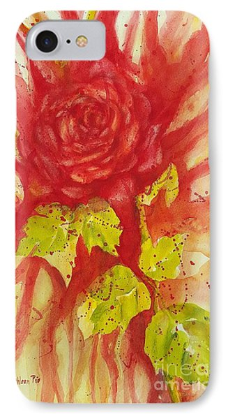 A Wounded Rose IPhone Case by Kathleen Pio