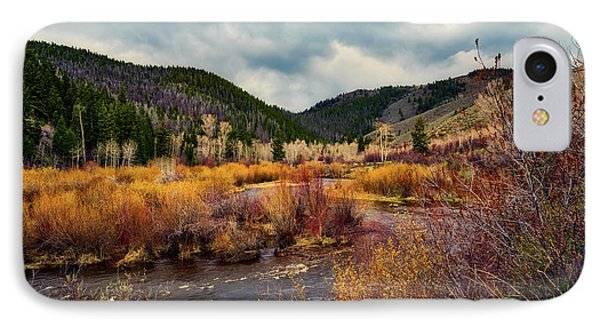 A Wyoming Autumn Day IPhone Case by L O C