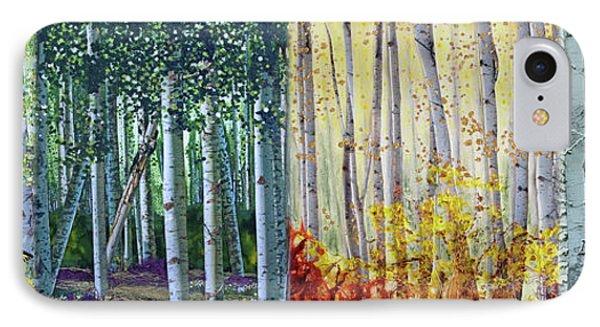 A Year In A Birch Forest IPhone Case by Stanza Widen