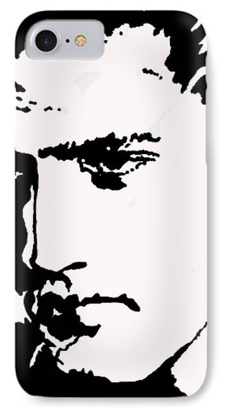 IPhone Case featuring the drawing A Young Elvis by Robert Margetts