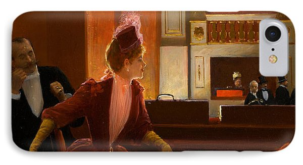 A Young Woman At The Opera IPhone Case by Jean Beraud