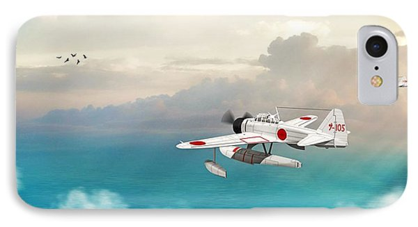 A6m2-n Sea Plane IPhone Case by John Wills