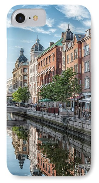IPhone Case featuring the photograph Aarhus Afternoon Canal Scene by Antony McAulay