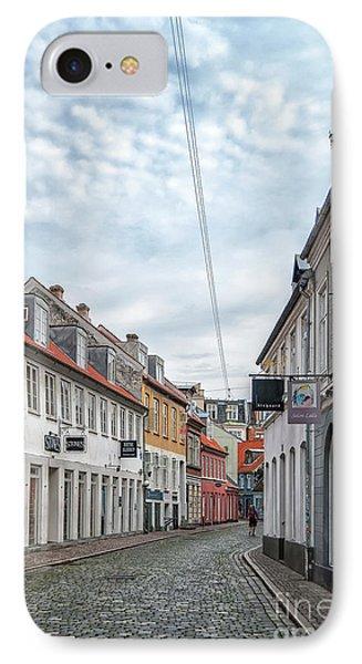 IPhone Case featuring the photograph Aarhus Backstreet Scene by Antony McAulay
