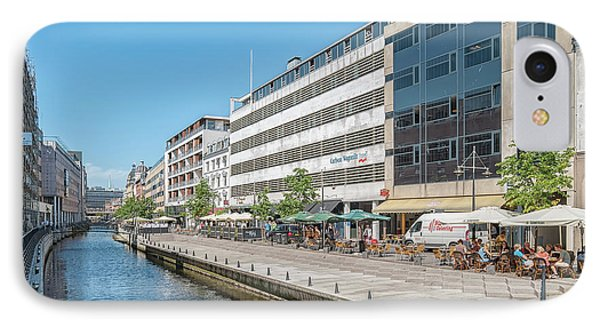 IPhone Case featuring the photograph Aarhus Canal Activity by Antony McAulay