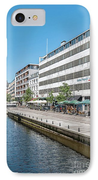 IPhone Case featuring the photograph Aarhus Canal Scene by Antony McAulay