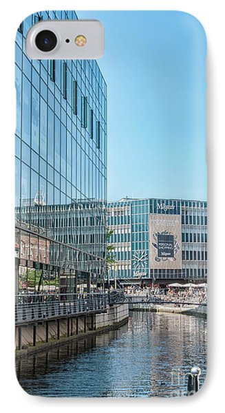 IPhone Case featuring the photograph Aarhus Lunchtime Canal Scene by Antony McAulay