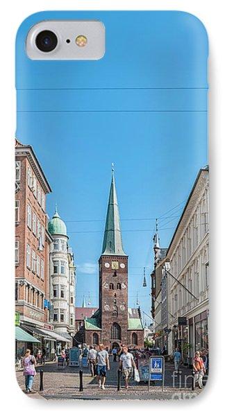 IPhone Case featuring the photograph Aarhus Street Scene by Antony McAulay