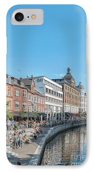 IPhone Case featuring the photograph Aarhus Summertime Canal Scene by Antony McAulay
