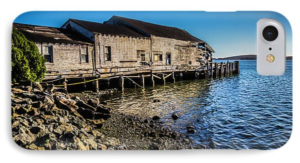 Abandonded Fishing Wharf IPhone Case by Garry Gay