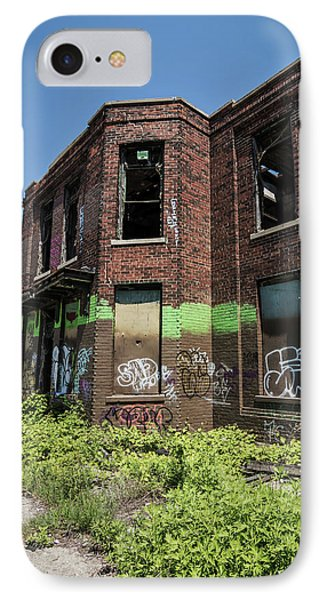Abandoned Building With Graffiti IPhone Case by Kim Hojnacki