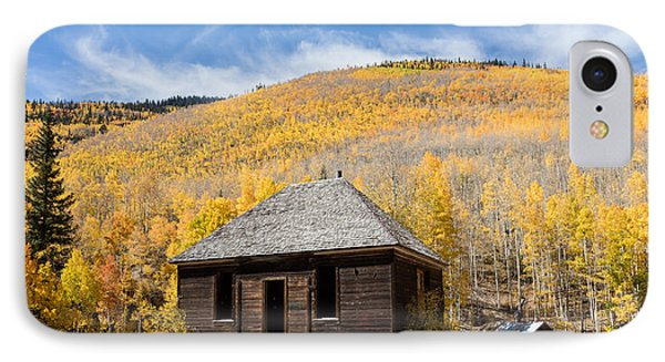 IPhone Case featuring the photograph Abandoned Cabin Near The Old Mining Town Of Ironton by Carol M Highsmith