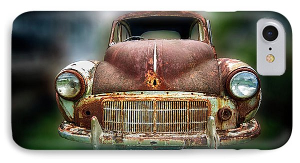 IPhone Case featuring the photograph Abandoned Car by Charuhas Images