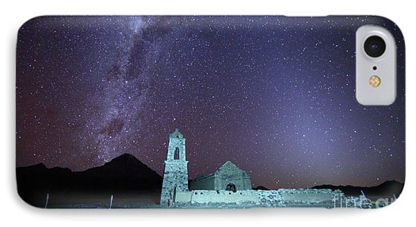 Abandoned Church Milky Way And Zodiacal Light Bolivia IPhone Case by James Brunker