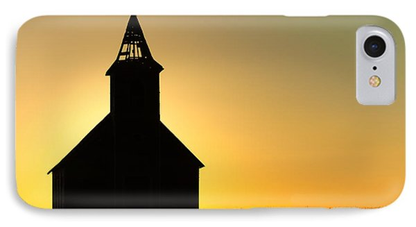 Abandoned Church Silhouette IPhone Case by Todd Klassy