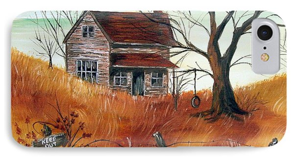 IPhone Case featuring the painting Abandoned Farmhouse by Quwatha Valentine