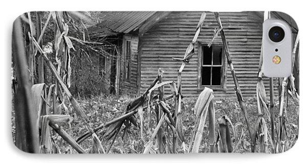 Abandoned Farmhouse Through Cornfield IPhone Case by Douglas Barnett