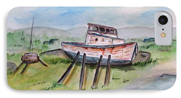 Abandoned Fishing Boat IPhone Case by Clyde J Kell