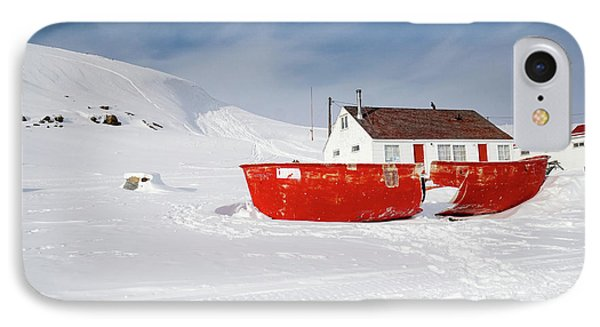 Abandoned Fishing Boat IPhone Case by Nick Mares