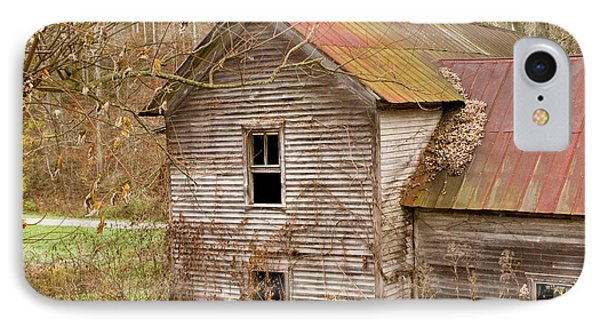 Abandoned House With Colorful Roof IPhone Case by Douglas Barnett