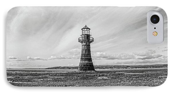 IPhone Case featuring the photograph Abandoned Light House Whiteford by Edward Fielding