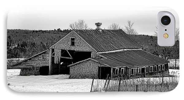 Abandoned Maine Barn In Winter IPhone Case