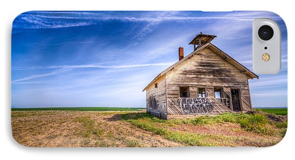 Abandoned School House IPhone Case by Spencer McDonald