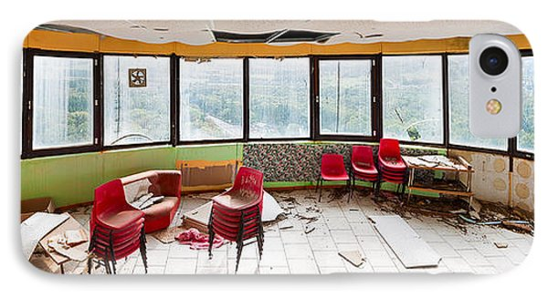 Abandoned Tower Restaurant - Urban Panorama IPhone Case by Dirk Ercken