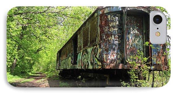 Abandoned Train Car IPhone Case by Elsa Marie Santoro