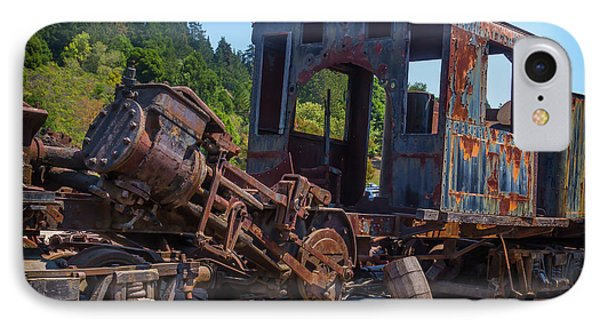 Abandoned Train Engine IPhone Case by Garry Gay