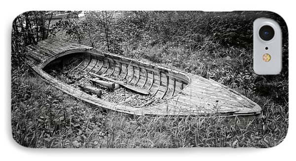IPhone Case featuring the photograph Abandoned Wooden Boat Alaska by Edward Fielding