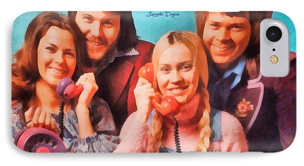 Abba Ring  - Watercolor Style -  - Da IPhone Case