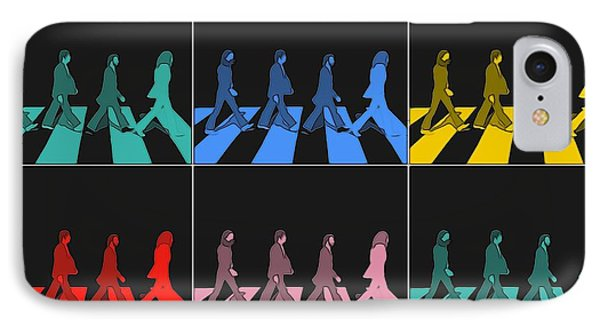 Abbey Road Pop Art Panels IPhone Case by Dan Sproul