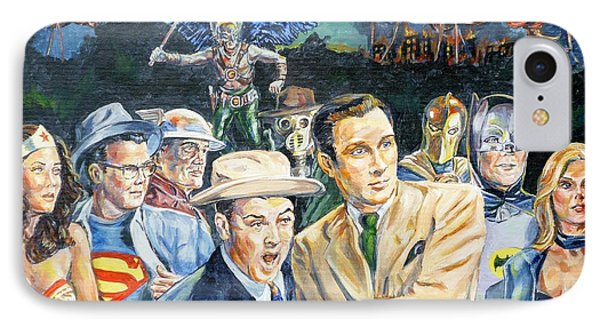 Abbott And Costello Meet The Justice Society Of America IPhone Case by Bryan Bustard