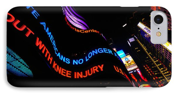 Abc News Scrolling Marquee In Times Square New York City Phone Case by Amy Cicconi