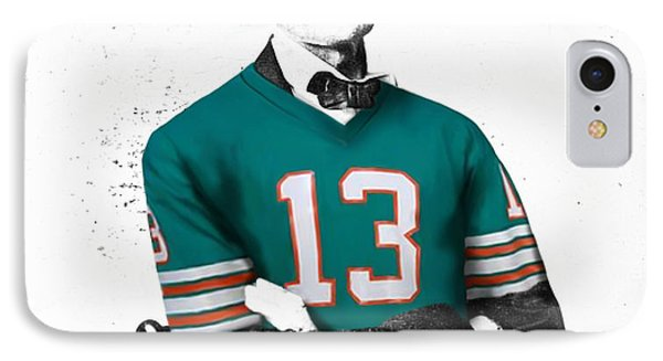 Abe Lincoln In A Dan Marino Miami Dolphins Jersey IPhone Case by Roly Orihuela