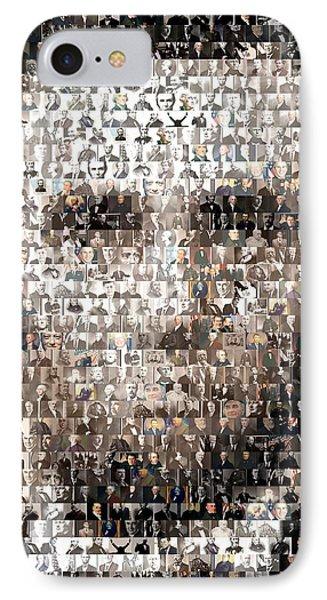 Abe Lincoln Presidents Mosaic Phone Case by Paul Van Scott
