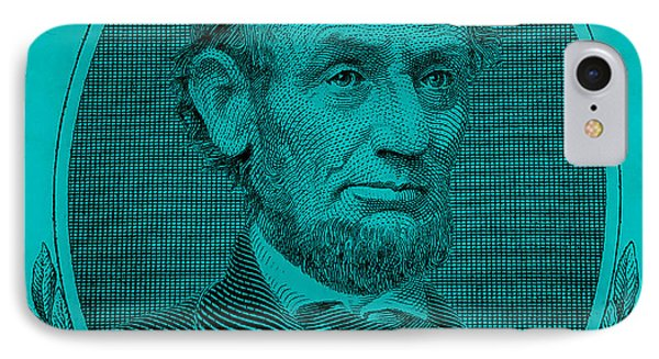IPhone Case featuring the photograph Abe On The 5 Aqua Blue by Rob Hans