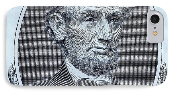 IPhone Case featuring the photograph Abe On The 5 Cyan by Rob Hans