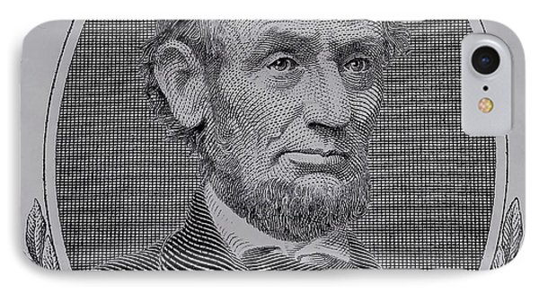 IPhone Case featuring the photograph Abe On The 5 Gray by Rob Hans