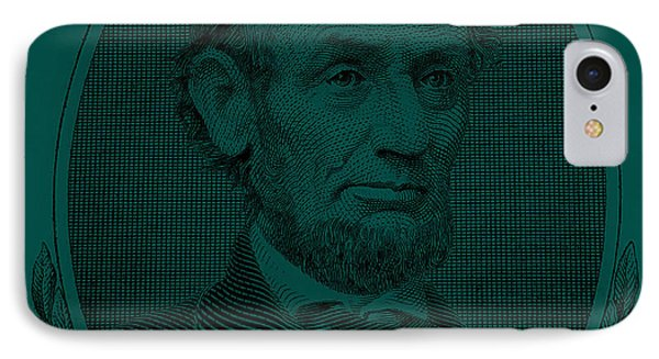 IPhone Case featuring the photograph Abe On The 5 Greenishblue by Rob Hans