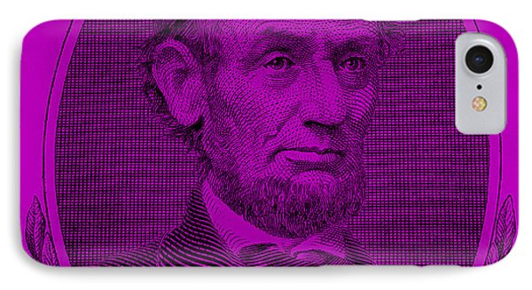 IPhone Case featuring the photograph Abe On The 5 Purple by Rob Hans