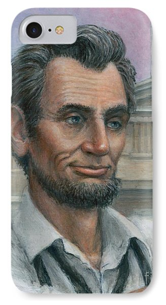 IPhone Case featuring the painting Abe's 1st Selfie - Detail by Jane Bucci