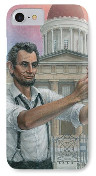 IPhone Case featuring the painting Abe's 1st Selfie by Jane Bucci