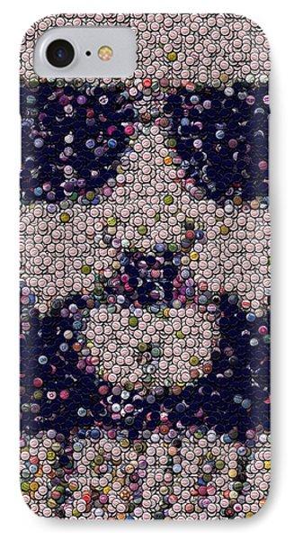 Abide Bottle Cap Mosaic Phone Case by Paul Van Scott