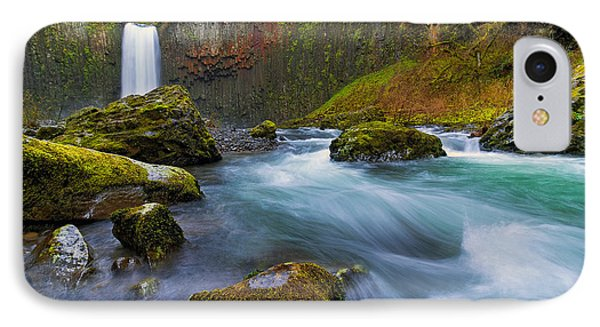 Abiqua Falls In Spring Phone Case by David Gn