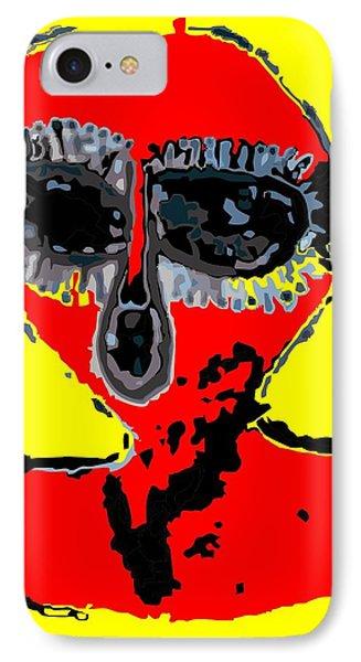 Aboriginal Alien IPhone Case by Raphael Terra