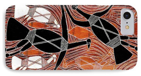 Aboriginal Birds IPhone Case by Vagabond Folk Art - Virginia Vivier